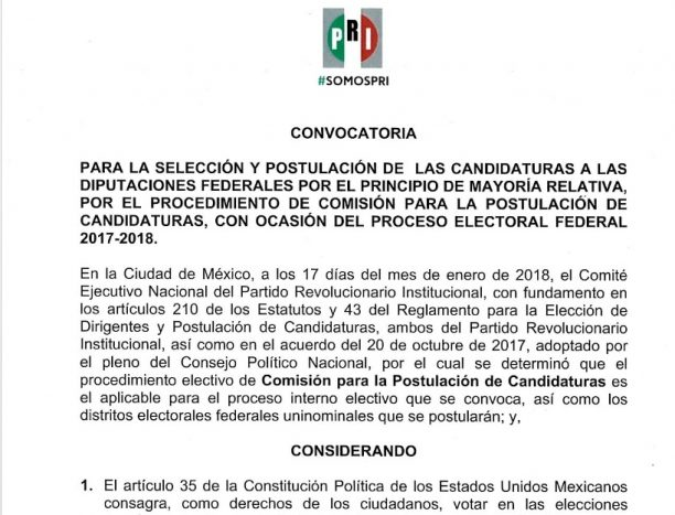 CONVOCATORIA DIP FED